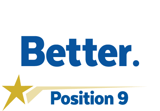 Headline that reads 'Believe in Better'